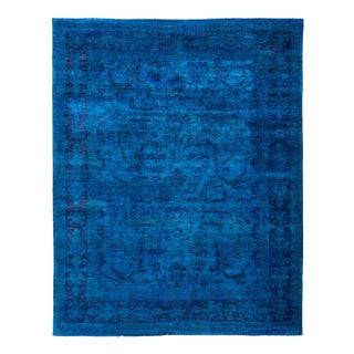 Vibrance Over Dyed Hand Knotted Area Rug - 8' x 10'1""