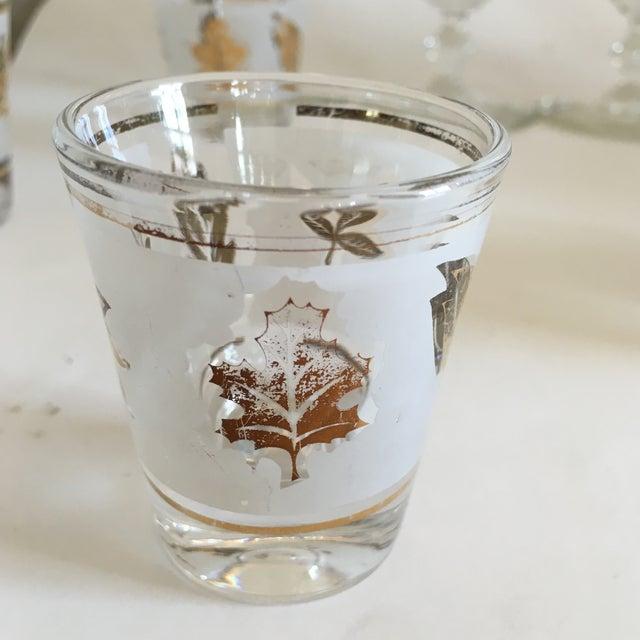 Libbey Starlyte Gold Leaf Glasses - Set of 9 - Image 5 of 7