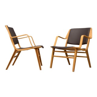 "Peter Hvidt & Orla Mølgaard-Nielsen Leather ""AX"" Chairs - A Pair"