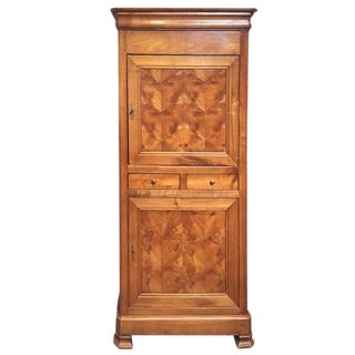 19th Century French Maple Veneer Cupboard
