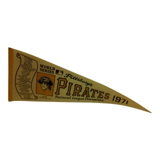 Vintage MLb Pittsburgh Pirates 1971 National League Champions World Series Team Pennant