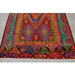 Image of Turkish Kilim Hand Woven Wool Area Rug - 5′8″ X 9′4″