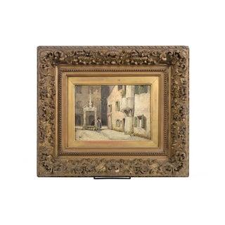 19th Century Spanish Scene Oil Painting on Board