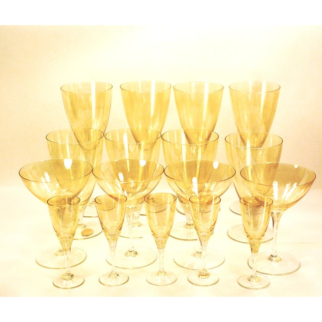 Bohemia Crystal Glassware Gold Iridescent - S/17 - Image 2 of 9