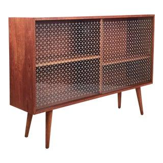 Vintage Danish Teak & Glass Cabinet