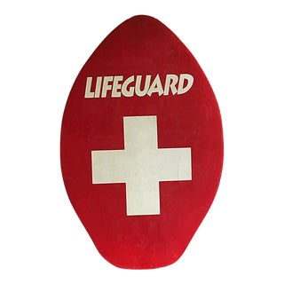 1950s Vintage Lifeguard Paddle Board