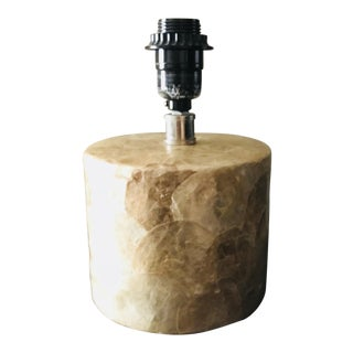Champagne Color Mother of Pearl / Mop Nautical Small Table Lamp