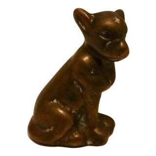 Vintage Brass Dog Figure