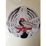 Image of Antique Japanese Embroidery of Sandhill Cranes (4)