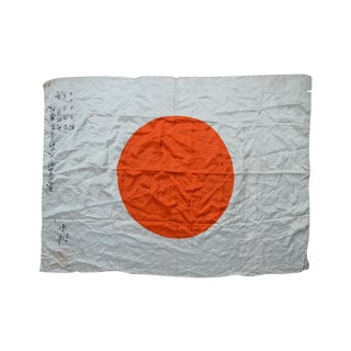 Captured Japanese WWII Rising Sun Battle Flag
