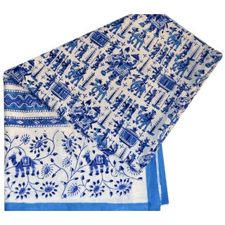Blue & Ivory Hand Block Textile