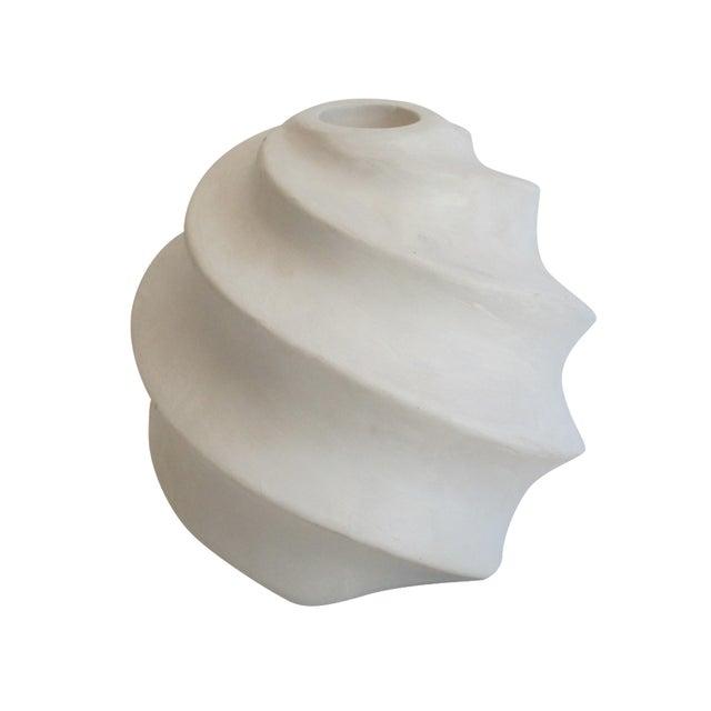 White Sculptural Ceramic Candle Holder - Image 1 of 6