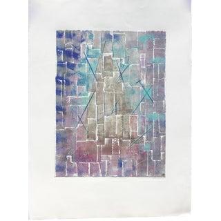 Turquoise Mono Print