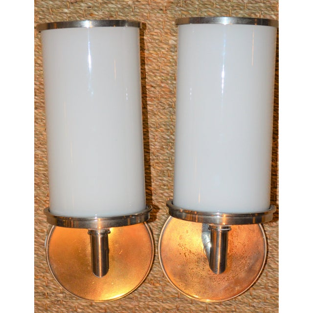Visual Comfort Studio Cylinder Sconces - a Pair - Image 9 of 10