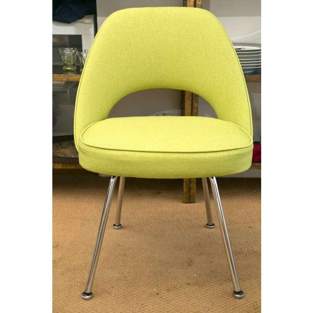 Saarinen Executive Side Chair, Honey Dew Green - Image 2 of 8