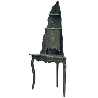 Early 20th Century French Encoigneure/Corner Etagere, Painted