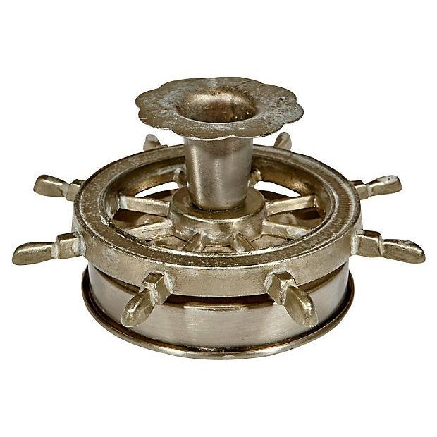 Nautical Metal Candleholders - Pair - Image 3 of 3