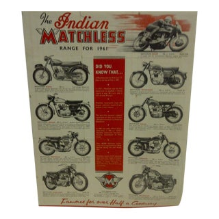 Vintage 1961 Indian Motorcycle Poster