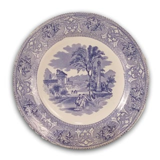 Blue and White Scenic Plates - A Pair