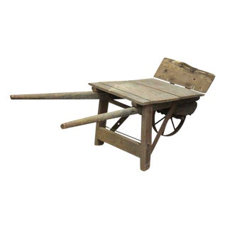 Vintage Wooden Wheel Barrow