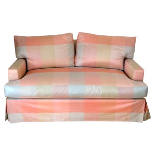Plaid Down Cushion Loveseat / Sofa