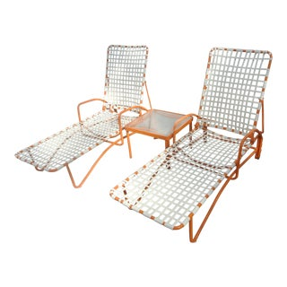 Brown Jordan Lido Chaise Lounge Set - 3 Pieces