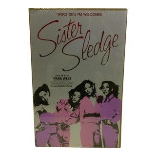 Vintage Sister Sledge Concert Poster
