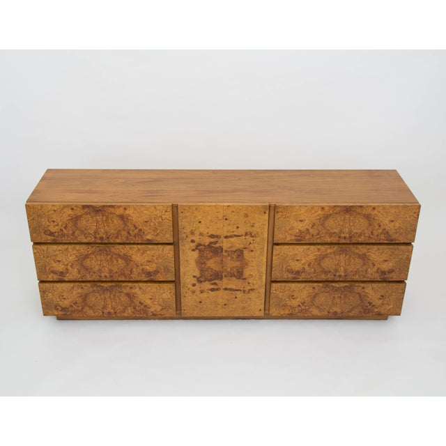 Olive Burl Wood Credenza or Dresser by Milo Baughman for Lane - Image 4 of 8