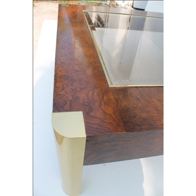 Century Furniture Burl & Brass Coffee Table - Image 5 of 10