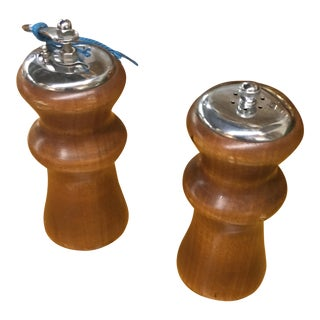 Classic Wooden Spice Mills - a Pair