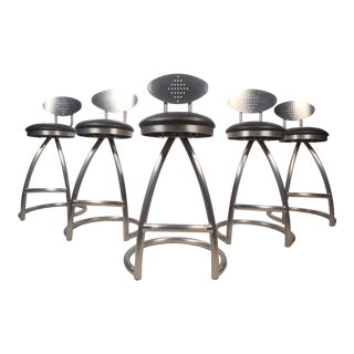 Contemporary Modern Industrial Style Bar Stools - Set of 5