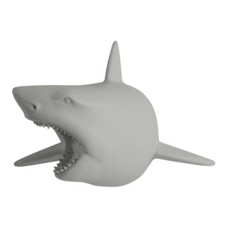 Wall Charmers Faux Gray Shark Head Wall Sculpture