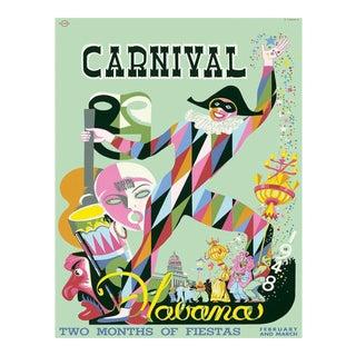 Carnival Havana Travel Poster, Matted and Framed