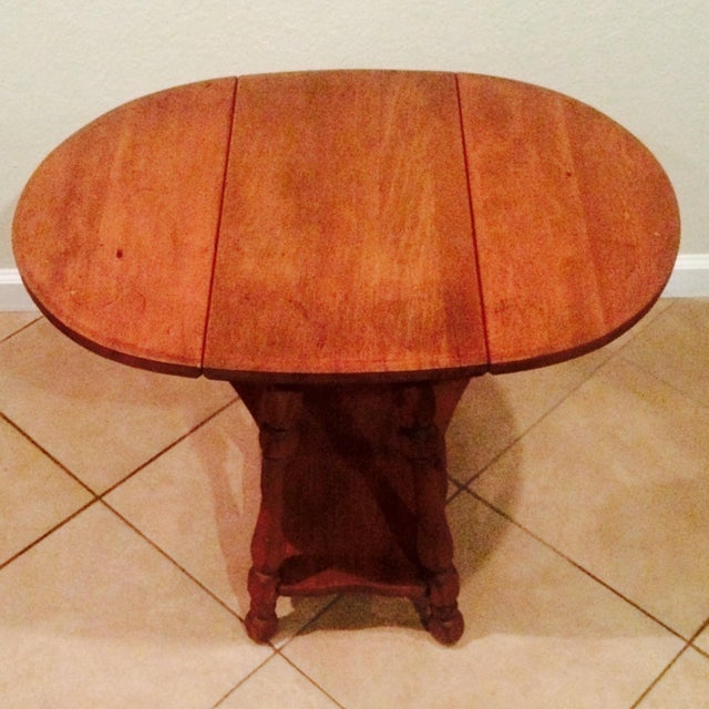 Antique Gate Leg Side Table - Image 3 of 8