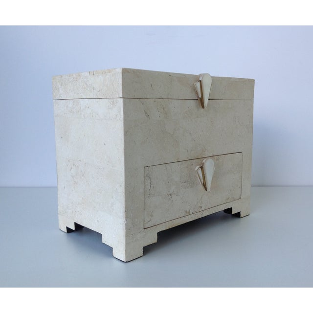 Maitland-Smith Vintage 1970s Tessellated Stone Box - Image 4 of 11