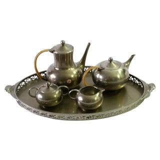 1960s Vintage Royal Holland Pewter Tea Serving Set