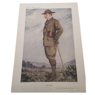 1911 Vanity Fair Lt. General Baden-Powell Print