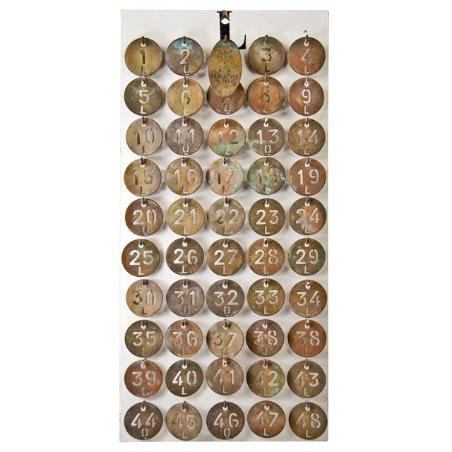 Image of Le Lido Paris Brass Coat Check Tags- Set of 50