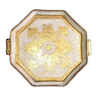 Italian Hand-Crafted Gilt Tole Ware Tray