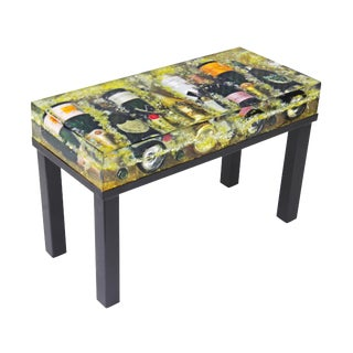 Modern Industrial Champagne Bottles Coffee Table