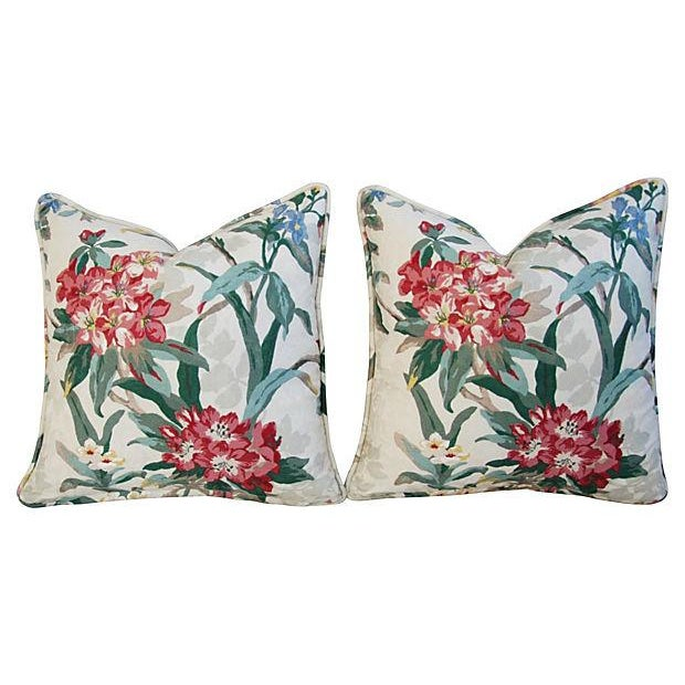 P. Kaufmann Rhododendron Pillows - A Pair - Image 2 of 7