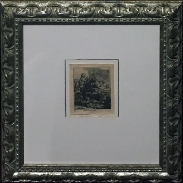 "Rembrandt ""The Pancake Woman"" Original Etching - Image 2 of 9"