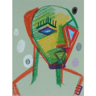 1972 Abstracted Portrait Drawing