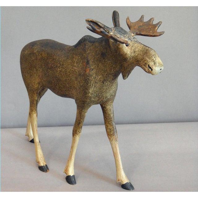 Image of Danish Carved Moose (#22-48)