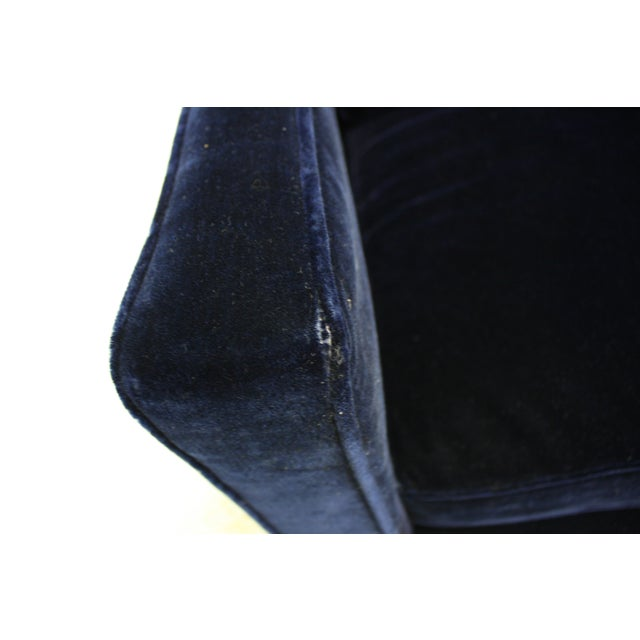 Ward Bennett Sofa in Navy Blue Mohair by Brickell - Image 5 of 7