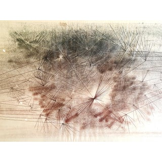 Early Harry Bertoia Monoprint Pencil Signed on Verso