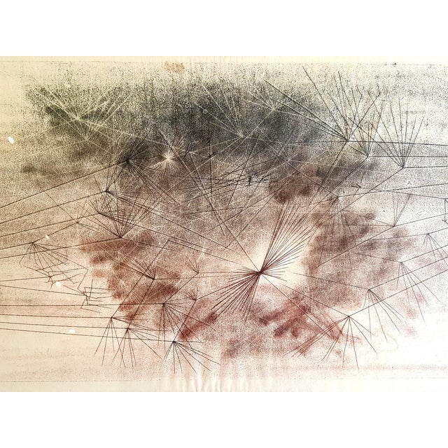 Image of Early Harry Bertoia Monoprint Pencil Signed on Verso