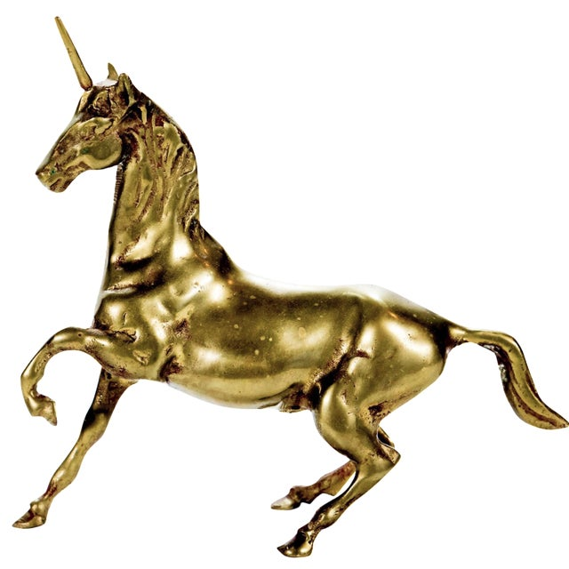 Image of Vintage Large Brass Unicorn