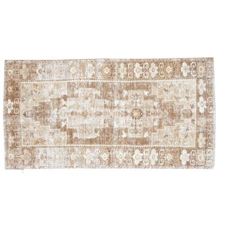 "Distressed Oushak Rug Runner - 3'6"" X 6'9"""