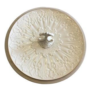 Large Vintage Lenox Ivory Gold Fine China Serving Platter